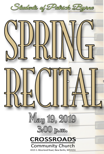 Spring Piano Recital Private Piano LEssons Wauwatosa